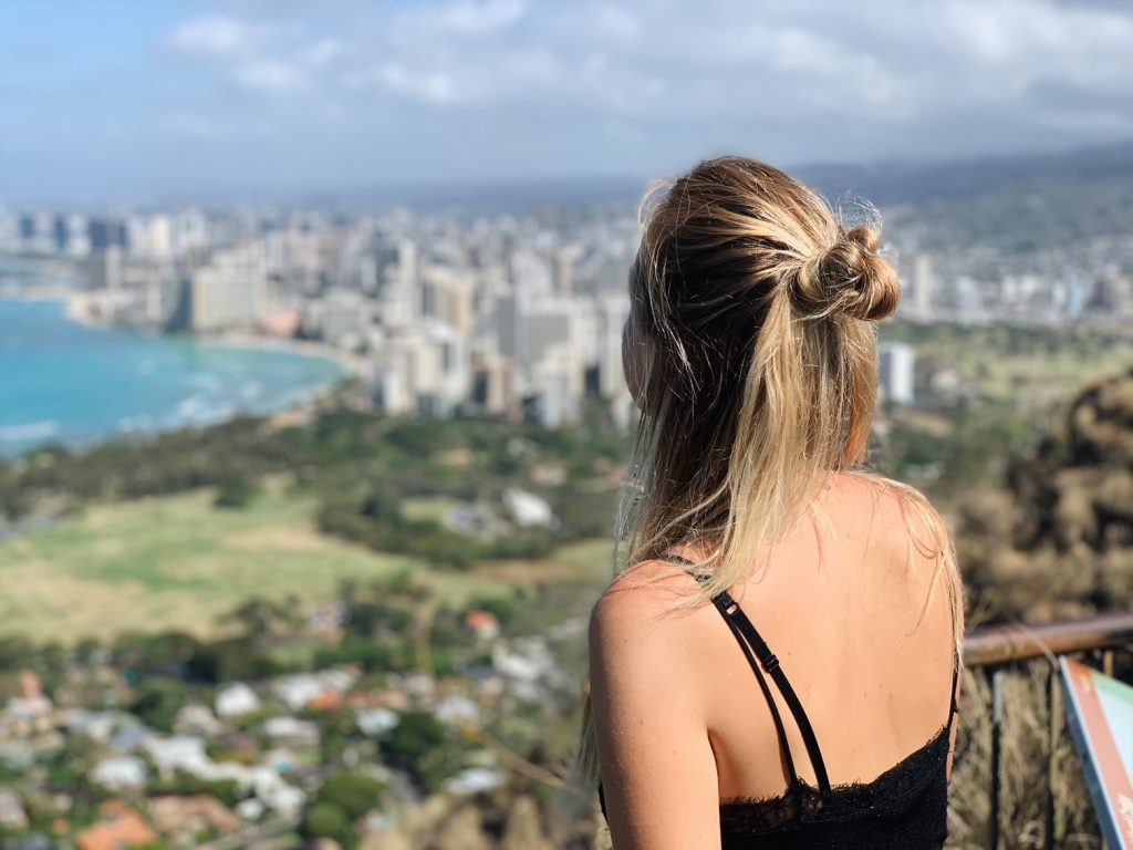 Diamond Head hike lookout exploring Oahu