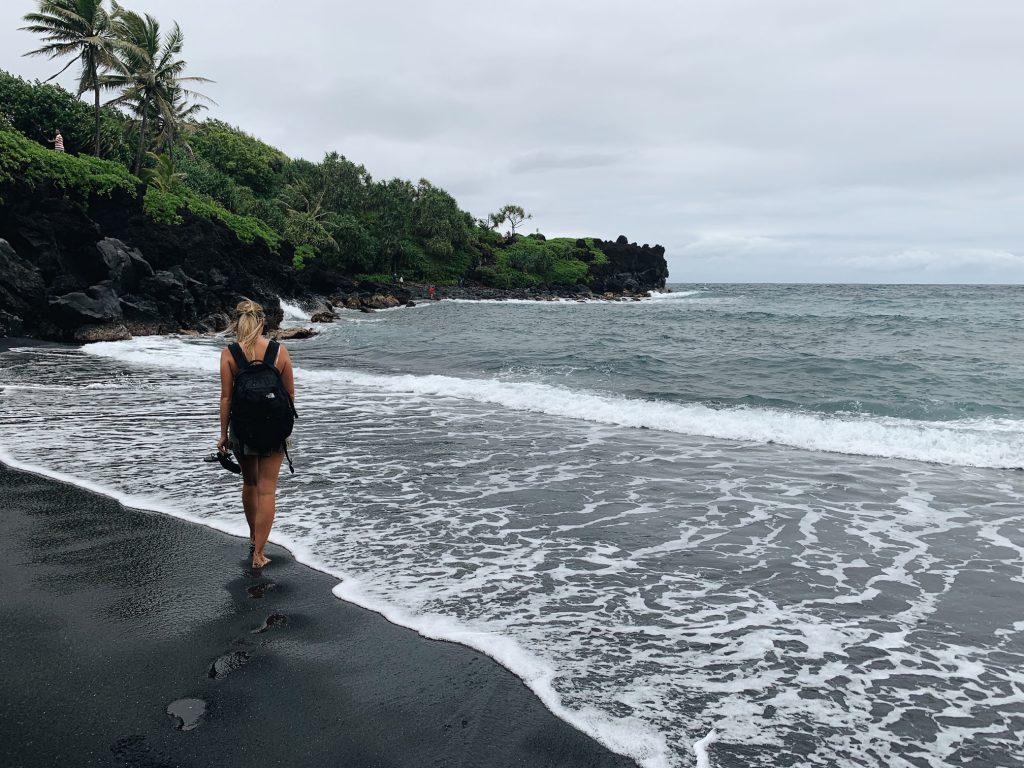 Black sand beach Road to Hana