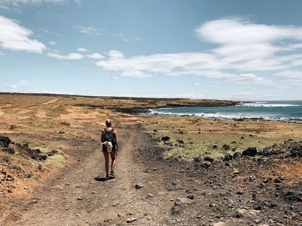 Hiking to Green Sand Beach visit Hawaii