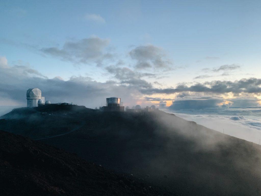 Viewing the sunset at Haleakala