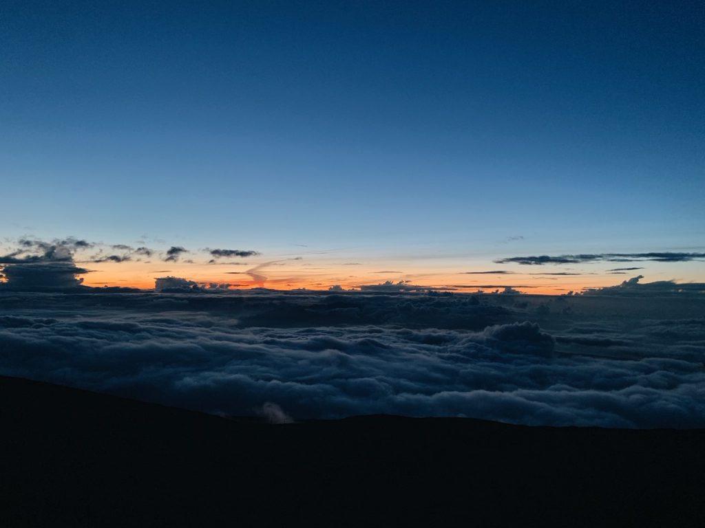 After the sunset Haleakala