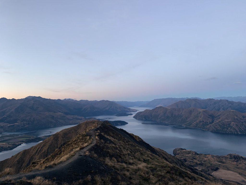 Sunset views at Roys Peak