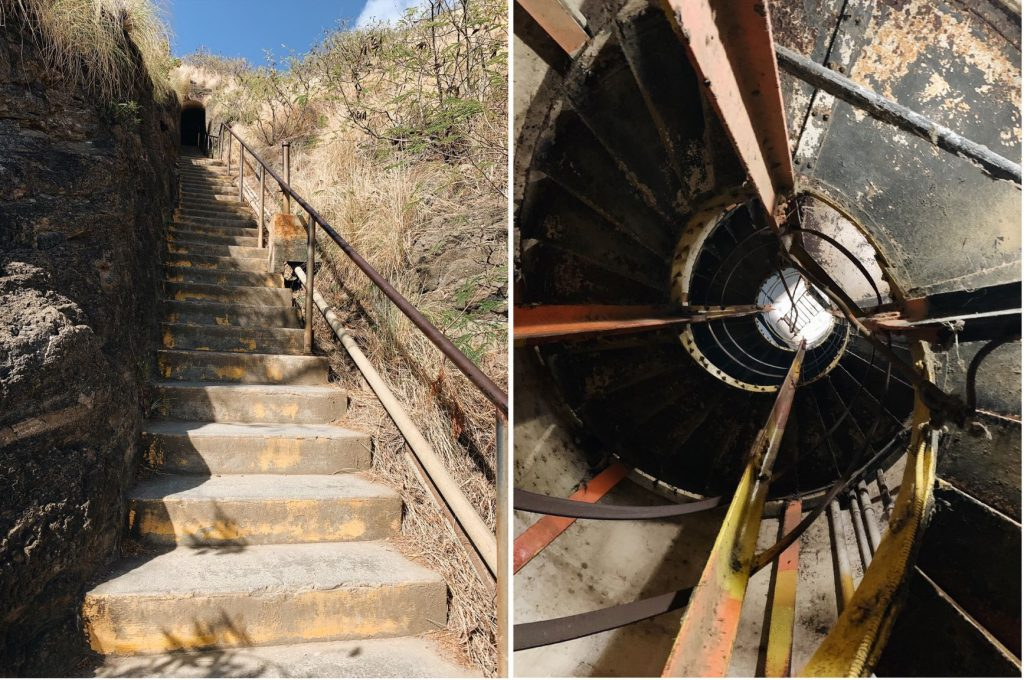 Diamond Head hike stairs