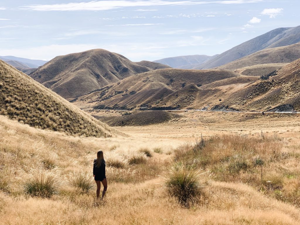 best Instagram spots in New Zealand  Lindis Pass