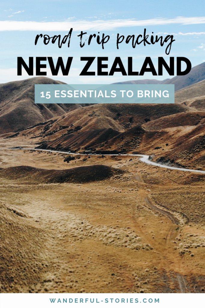 New Zealand road trip packing list
