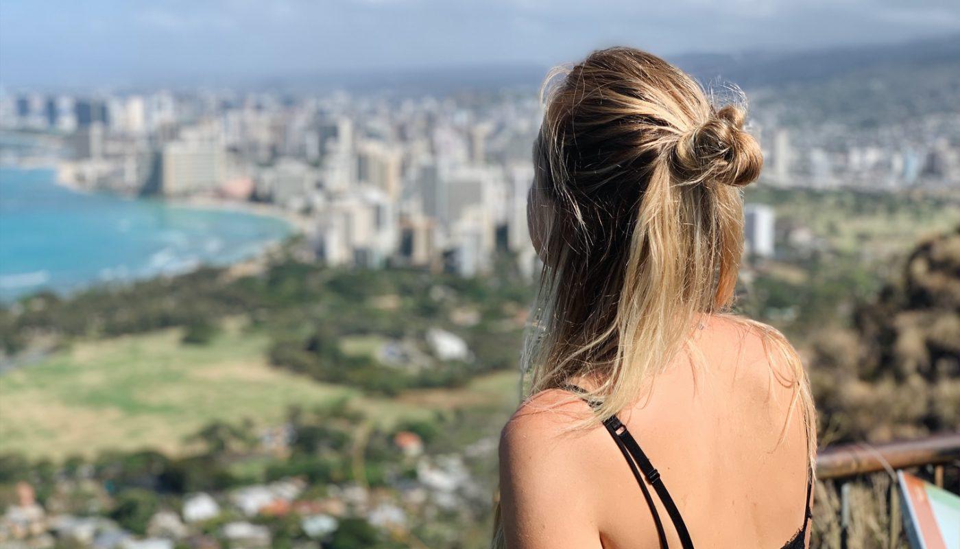 Diamond Head hike lookout exploring Oahu