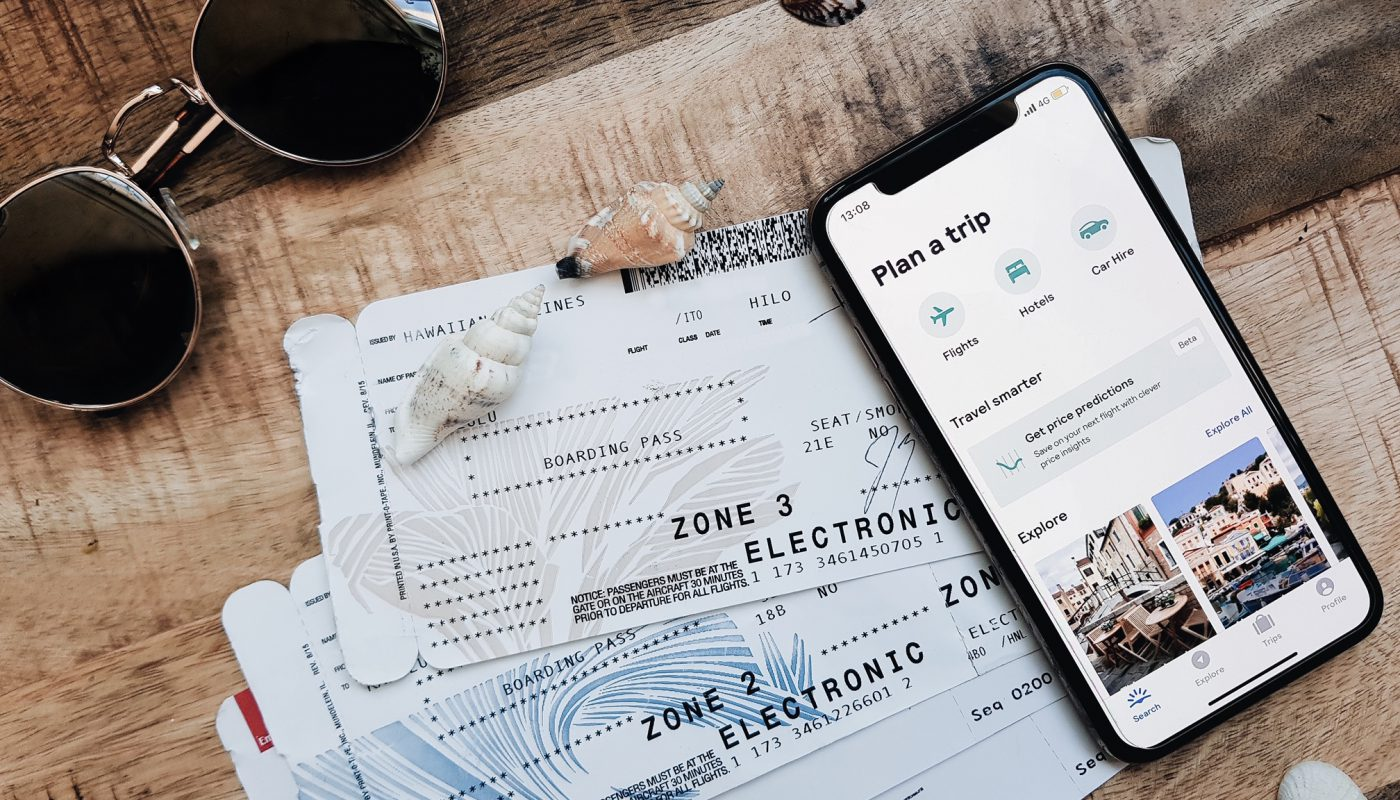 Favourite travel apps w tickets